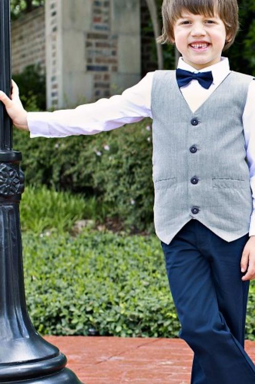 Navy Blue Chino Bow Tie