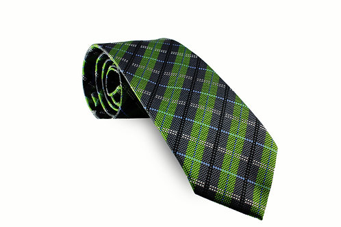 Green and Navy Blue Plaid