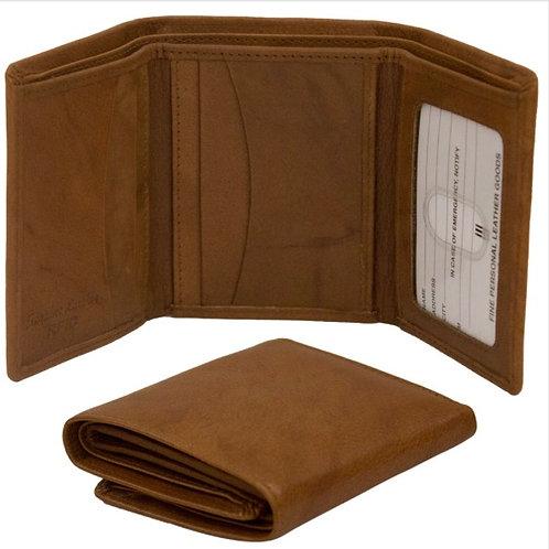 Leather Tri-fold Men's Wallet