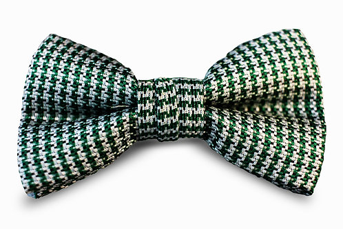 Dark Green and Gray Houndstooth