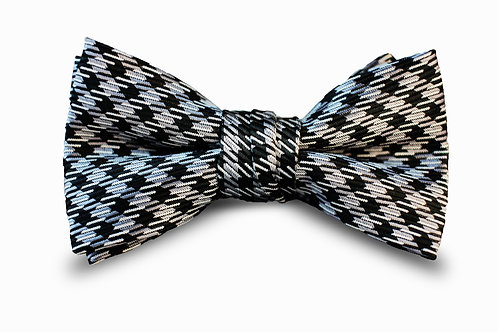 Black and Grey Bow Tie