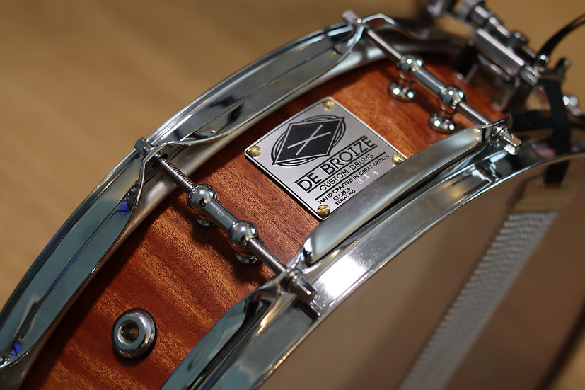 """14""""x4"""" African Mahogany Stave Snare Drum"""