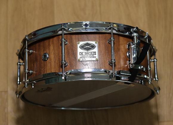 """14""""x5.5"""" Black Walnut Stave Snare Drum"""