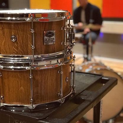 de broize oak snare drums