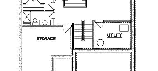 Unfinished Basement Potential Plan