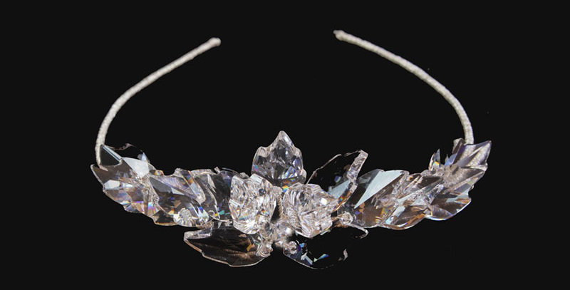 Swarovski crystal leaf tiara