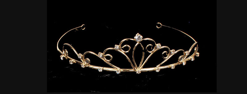 gold coloured wedding tiara