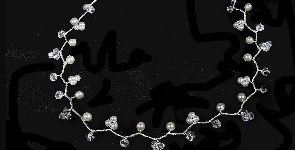 pearl and crystal hair vine