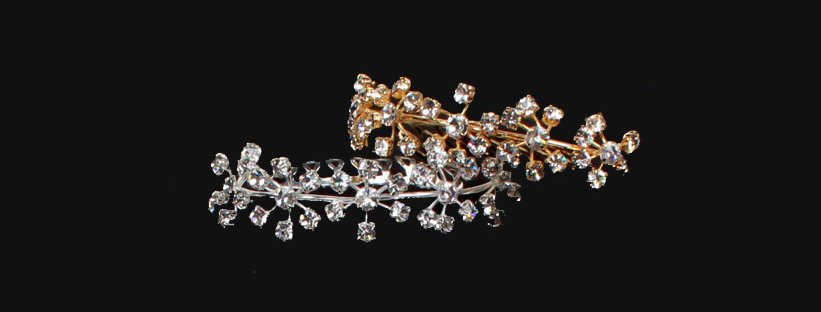 small diamante hair comb