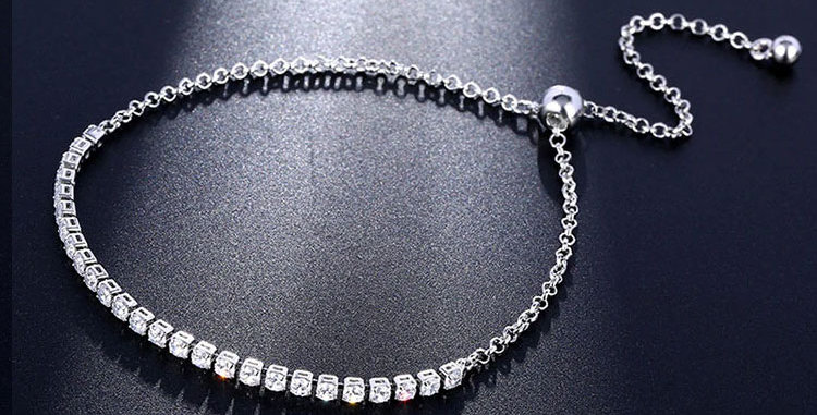 silver colour wedding bracelet