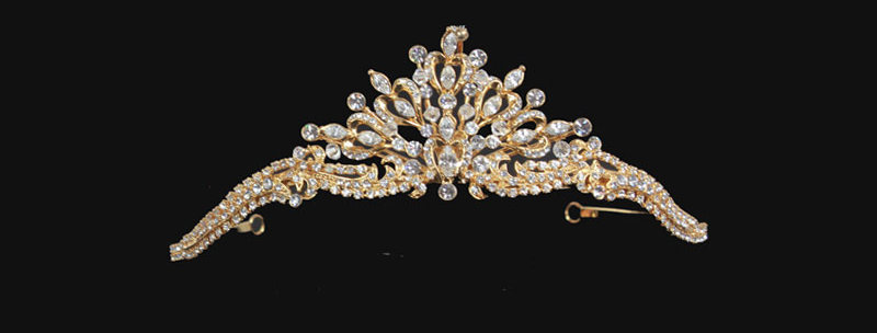diamante tiara front view