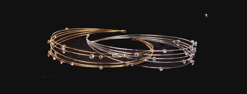 multi row diamante headband