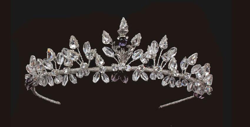 scottish thistle wedding tiara