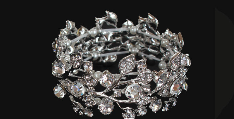 silver tone slip on bracelet