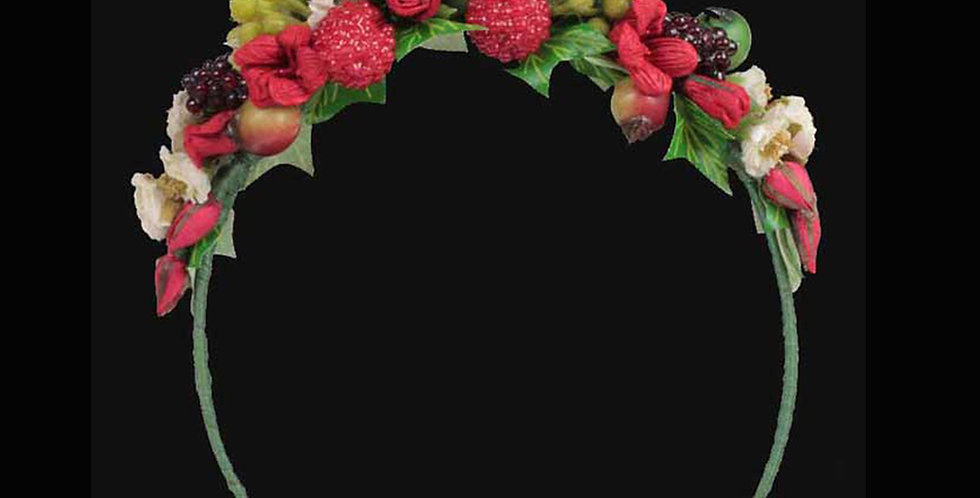 Berry -  Child's Wedding Headpiece