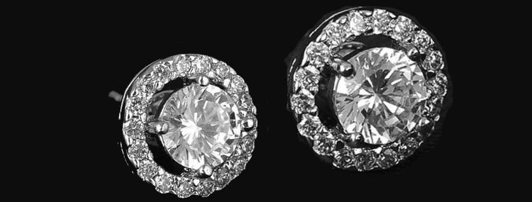 Cubic Zirconia wedding stud