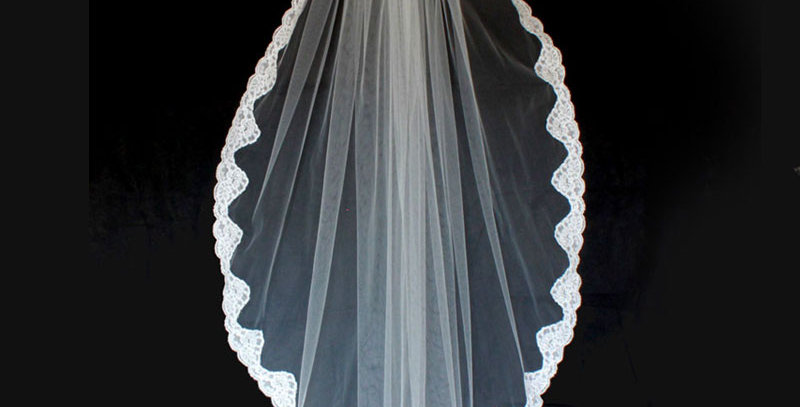 Fontain lace edged veil