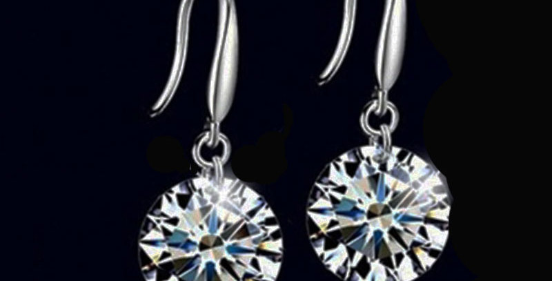 cubic zirconia round wedding earrings