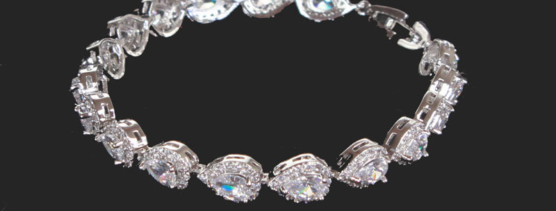 crystal wedding bracelet