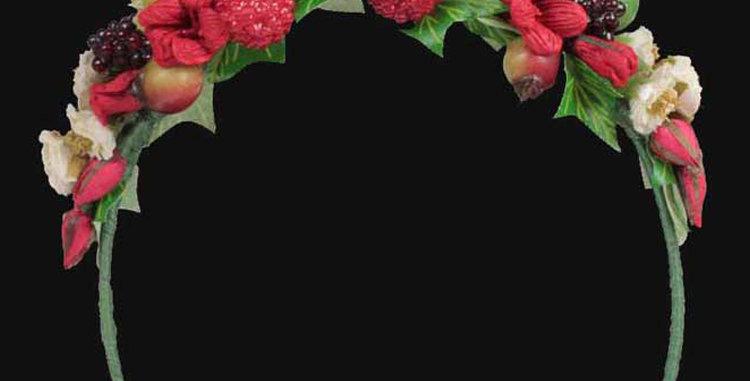 Berry children headdress  front black
