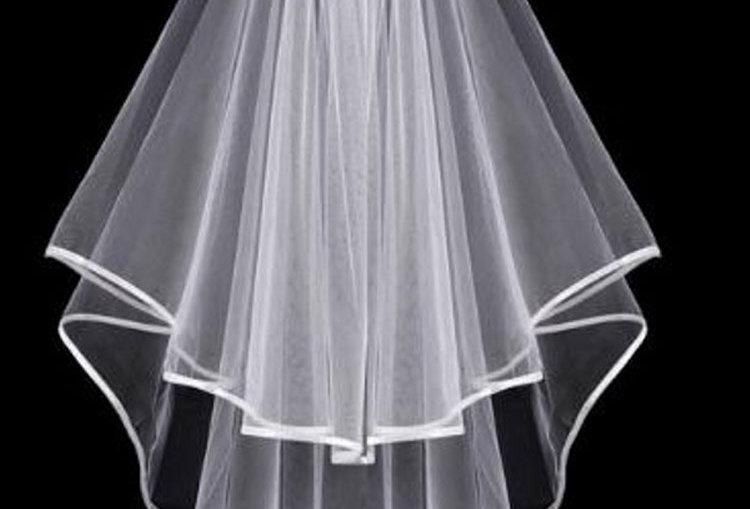 Janessa 2 tier wedding veil