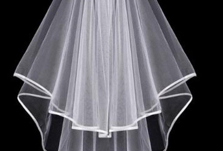 Janessa 2 tier wedding veil