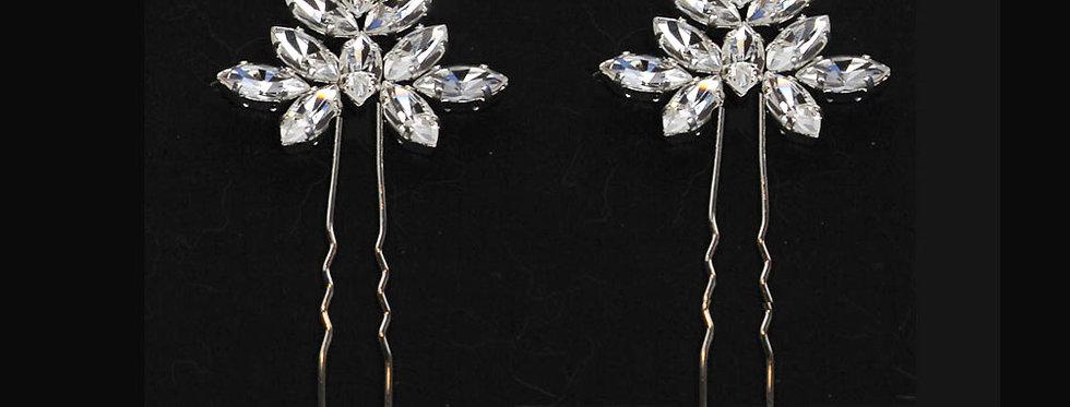 crystal wedding hairpins