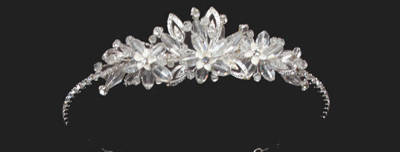 enamel leaf children's wedding tiara