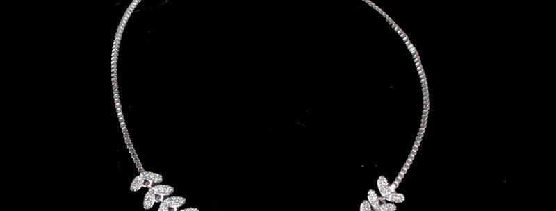 silver tone wedding bracelet
