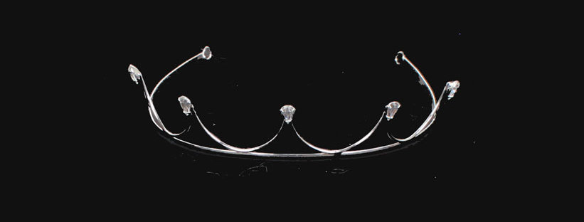 top view of crown tiara