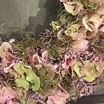 Hortensienkranz mit Clematis und Strandf