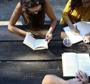 Group Reading Outside
