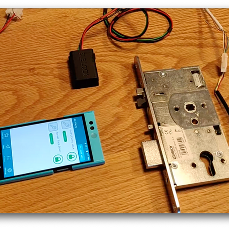 BLE Locking demo with a motor lock
