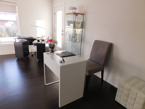 Reception Area and Manicure Area