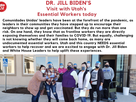 Comunidades Unidas Welcomes the First Lady of the United States Dr. Jill Biden!