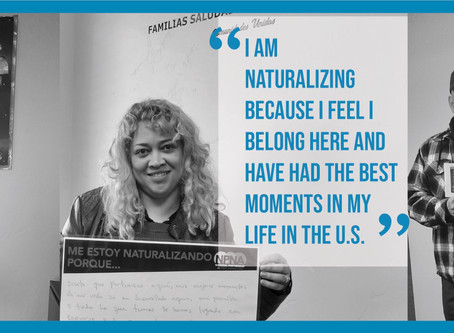 Naturalize NOW! Receive free Citizenship application  assistance at Comunidades Unidas