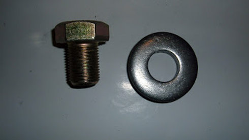 57 to 66 crank bolt & washer