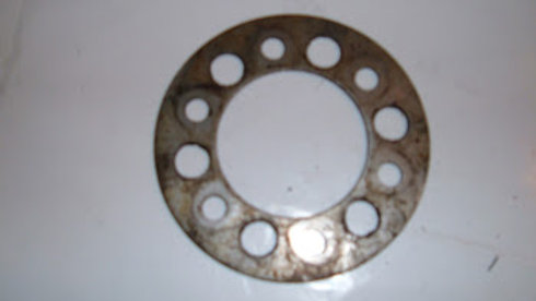 57 and later crank pulley retainer plate