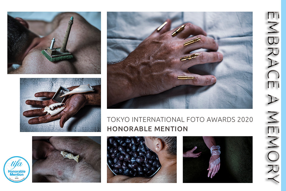 """My photographic project """"Embrace a Memory""""  has been awarded an Honorable Mention in the 2020 Tokyo International Foto Awards"""