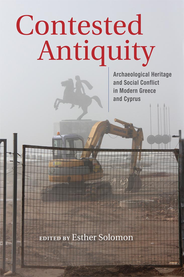 """The cover photo of the book """"Contested Antiquity"""""""
