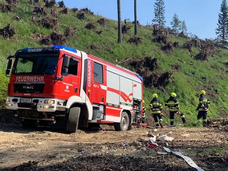 Waldbrand am Pischkberg