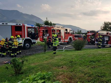 80 Einsatzkräfte bei der Abschnittsübung der Brucker Feuerwehren in Picheldorf