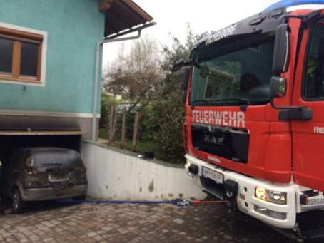 Fahrzeugbergung nach Kellerbrand