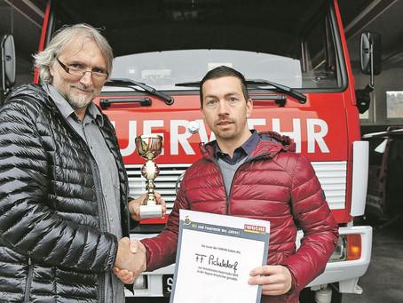 Wahl zur beliebtesten Feuerwehr - Platz 1