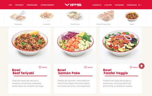 VIPS - Bowls Internacionales