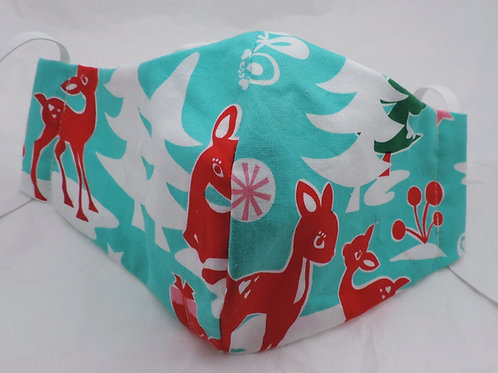 "14"" Winter or Christmas fabric mask"