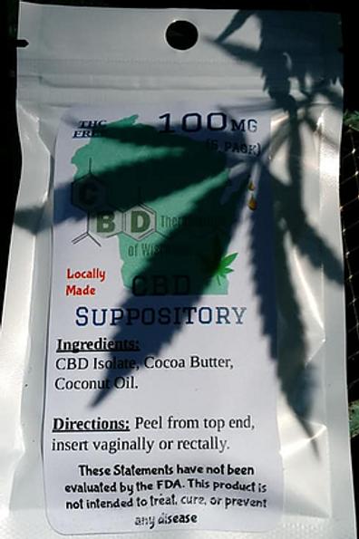 100mg CBD Suppository