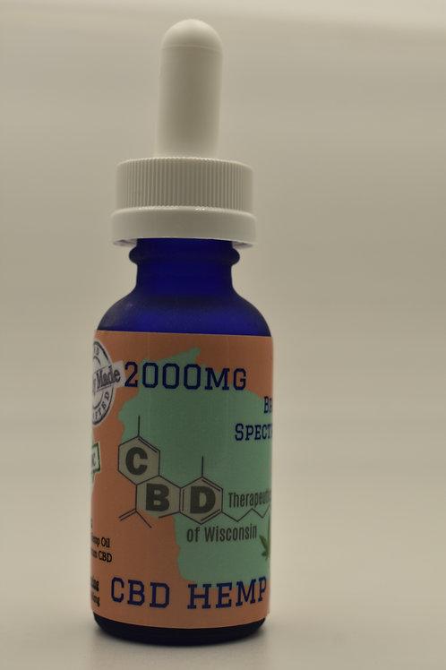 2000mg 30ml CBD Broad Spectrum Sublingual Hemp Oil