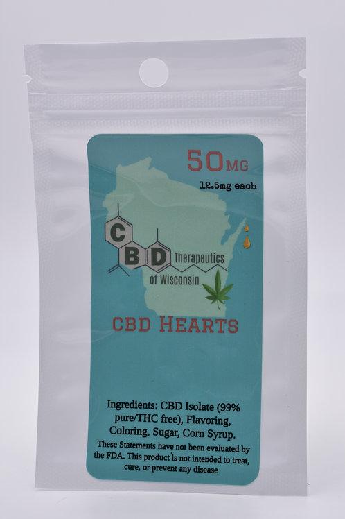 50mg CBD Candy Hearts