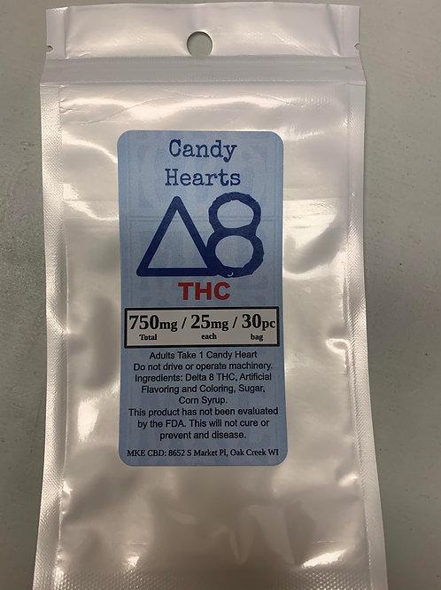 Delta 8 Candy Hearts.  750mg / 30pc